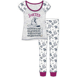 textil Dam Pyjamas/nattlinne Harry Potter  Lila/vit