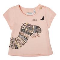textil Flickor T-shirts Ikks XS10100-32 Rosa