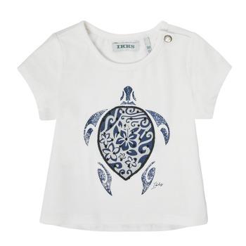 textil Flickor T-shirts Ikks XS10070-19 Vit