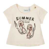 textil Flickor T-shirts Ikks XS10090-11 Vit