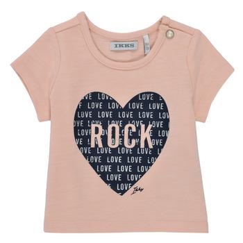 textil Flickor T-shirts Ikks XS10120-31 Rosa
