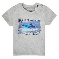 textil Pojkar T-shirts Ikks XS10031-24 Grå