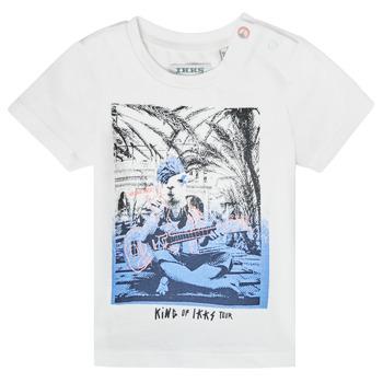 textil Pojkar T-shirts Ikks XS10051-19 Vit