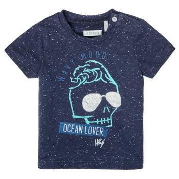 textil Pojkar T-shirts Ikks XS10011-48 Marin