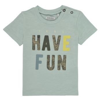 textil Pojkar T-shirts Ikks XS10131-50 Blå