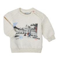 textil Pojkar Sweatshirts Ikks XS15011-60 Vit