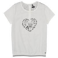 textil Flickor T-shirts Ikks XS10242-19-J Vit