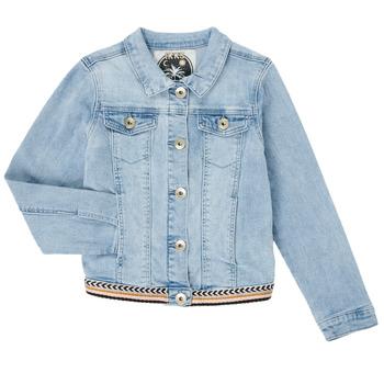 textil Flickor Jeansjackor Ikks XS40152-84-C Blå