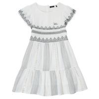 textil Flickor Korta klänningar Ikks XS30012-11-C Vit