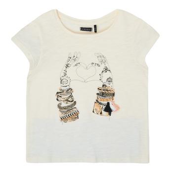 textil Flickor T-shirts Ikks XS10002-11-C Vit