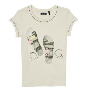 textil Flickor T-shirts Ikks XS10132-11-C Vit