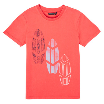 textil Pojkar T-shirts Ikks XS10043-79-C Röd