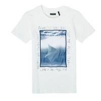 textil Pojkar T-shirts Ikks XS10033-19-C Vit