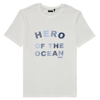 textil Pojkar T-shirts Ikks XS10343-19-C Vit