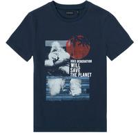 textil Pojkar T-shirts Ikks XS10013-48-C Marin