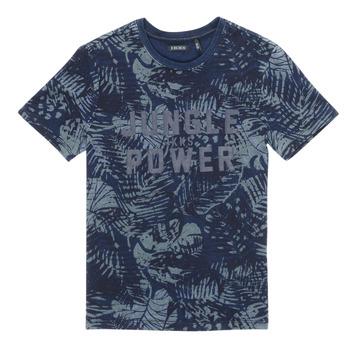 textil Pojkar T-shirts Ikks XS10153-46-C Marin