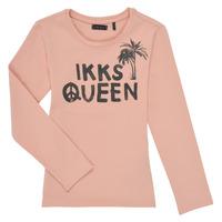 textil Flickor Långärmade T-shirts Ikks XS10092-32-J Rosa