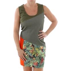 textil Dam Korta klänningar Smash CADIZ DRESS ARMY 38 Verde