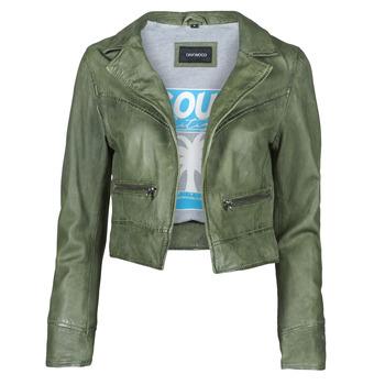 textil Dam Skinnjackor & Jackor i fuskläder Oakwood TRISH Grön