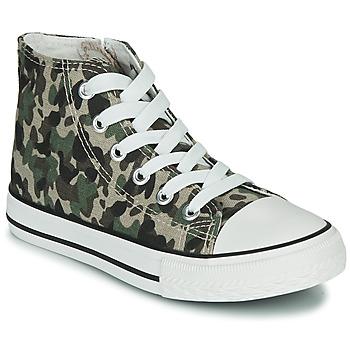 Skor Barn Höga sneakers Citrouille et Compagnie OUTIL Kamouflage