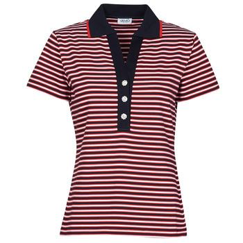 textil Dam Kortärmade pikétröjor Liu Jo WA1142-J6183-T9701 Marin / Vit / Röd