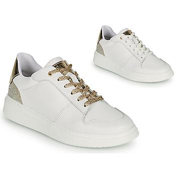Skor Flickor Sneakers BOSS NILLA Vit / Guldfärgad