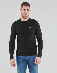 textil Herr Långärmade T-shirts Emporio Armani EA7 8NPTL9-PJ03Z-1200 Svart