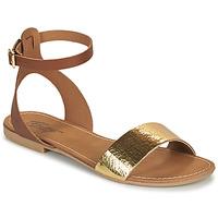 Skor Dam Sandaler Betty London GIMY Kamel / Guldfärgad