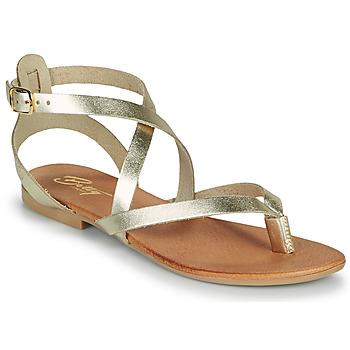 Skor Dam Sandaler Betty London OPALACE Guldfärgad