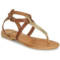 Skor Dam Sandaler Betty London ORIOUL Kamel / Guldfärgad