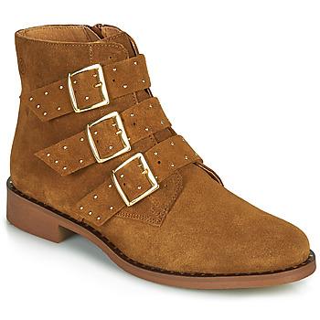 Skor Dam Boots Betty London LYS Cognac