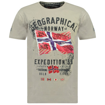 textil Pojkar T-shirts Geographical Norway JITCHEN Grå