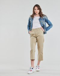 textil Dam Chinos / Carrot jeans Tommy Jeans TJW HIGH RISE STRAIGHT Beige
