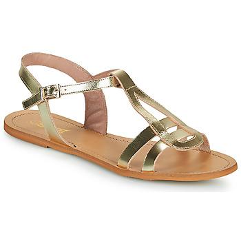 Skor Dam Sandaler So Size DURAN Guldfärgad