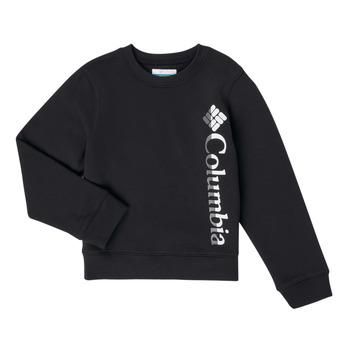 textil Flickor Sweatshirts Columbia COLUMBIA PARK FRENCH TERRY CREW Svart