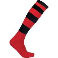 Accessoarer Strumpor Proact Chaussettes de sport  Cerclées rouge clair/jaune clair