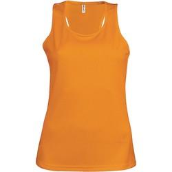 textil Dam Linnen / Ärmlösa T-shirts Proact Débardeur femme  Sport orange