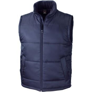 textil Koftor / Cardigans / Västar Result Doudoune Sans Manche  Core bleu marine