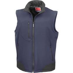 textil Koftor / Cardigans / Västar Result Doudoune Sans Manche  Softshell bleu marine