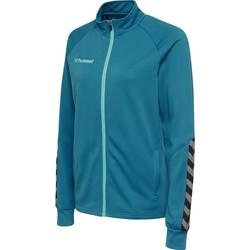 textil Dam Sweatjackets Hummel Veste femme  Zip hmlAUTHENTIC Poly bleu foncé