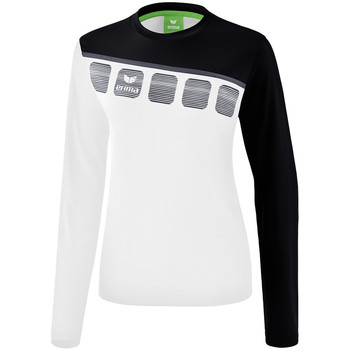 textil Dam Sweatshirts Erima Haut d'entrainement femme manches longues  5-C blanc/noir/gris