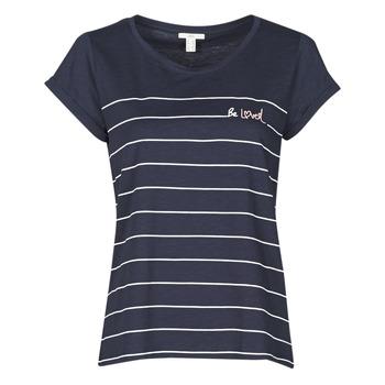 textil Dam T-shirts Esprit T-SHIRTS Blå