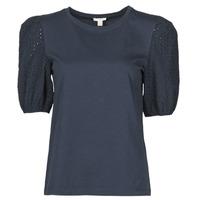 textil Dam T-shirts Esprit T-SHIRTS Svart