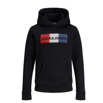 textil Pojkar Sweatshirts Jack & Jones JJECORP LOGO PLAY SWEAT Svart