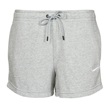 textil Dam Shorts / Bermudas Nike NSESSNTL FLC HR SHORT FT Grå / Vit