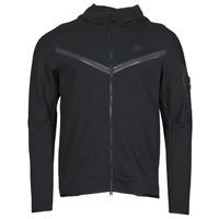 textil Herr Sweatjackets Nike NSTCH FLC HOODIE FZ WR Svart