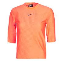 textil Dam T-shirts Nike NSICN CLSH TOP SS MESH Orange