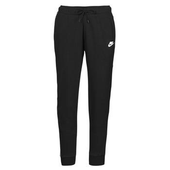 textil Dam Joggingbyxor Nike NSMLNESSNTL FLC MR JGGR Svart / Vit