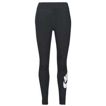 textil Dam Leggings Nike NSESSNTL GX HR LGGNG FTRA Svart / Vit