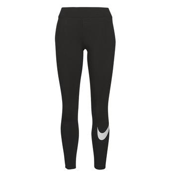 textil Dam Leggings Nike NSESSNTL GX MR LGGNG SWSH Svart / Vit